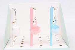 Ручка пушистая Фламинго  1шт  микс 17см