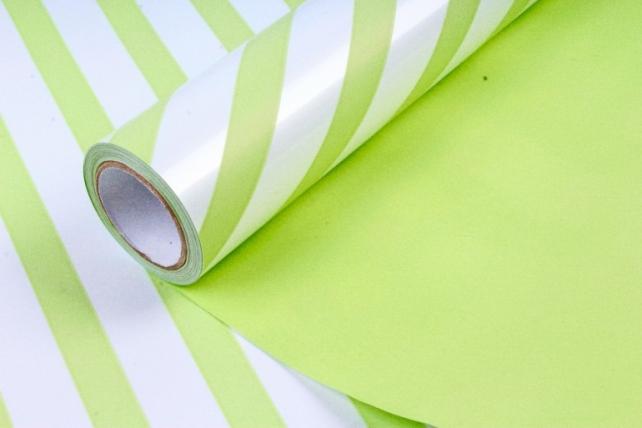Рулон Пленка матовая двухцветная 60мкм 60см x 10м Диагональ жемчуг/фисташковый00072066