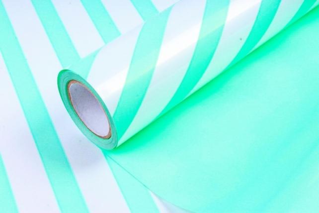 Рулон Пленка матовая двухцветная 60мкм 60см x 10м Диагональ жемчуг/мятный00073052