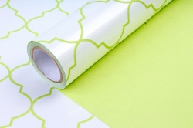 Рулон Пленка матовая двухцветная 60мкм 60см x 10м Ковка жемчуг/фисташковый00072632