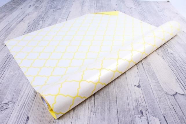 Рулон Пленка матовая двухцветная 60мкм 60см x 10м Ковка жемчуг/желтый нежный00072634