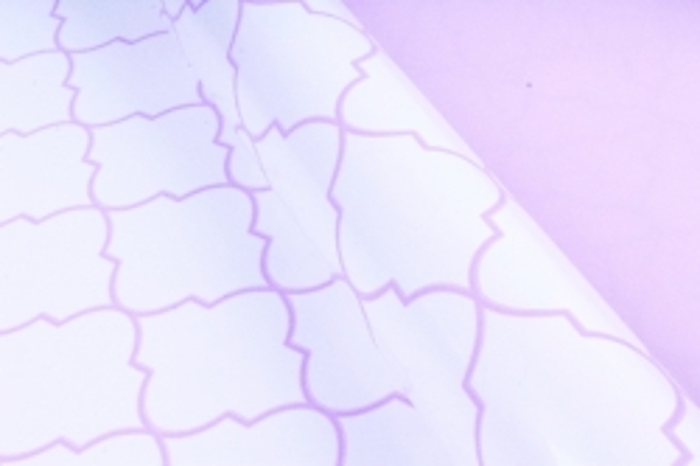 Рулон Пленка матовая двухцветная 60мкм 60см x 10м Ковка жемчуг/сиреневый пастель00072633