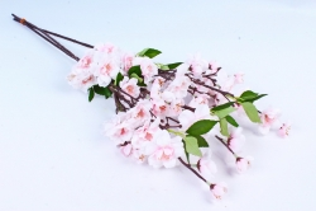 Сакура ветка 65см св.розовая (3 шт в уп) SUN416