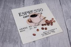 Салфетка декупажная 25*25  Кофе эспрессо  1251096