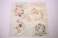 Салфетка декупажная 33*33 Ангелы и письма 13308405
