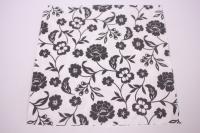 Салфетка декупажная 33*33 Черно-белые цветы 004651
