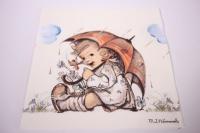 Салфетка декупажная 33*33 Девочка с зонтом 13310290