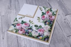 Салфетка декупажная 33*33 Королевские цветы - Клумба  24L010