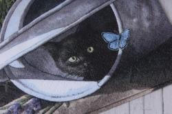 салфетка декупажная 33*33 кот и лаванда  24l014