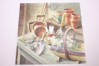Салфетка декупажная 33*33 Маргаритки в садовом сарае 363430