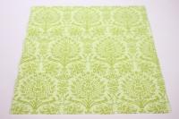 Салфетка декупажная 33*33 Орнамент дамасский зеленый