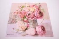 Салфетка декупажная 33*33 Розы в горшке 13309005