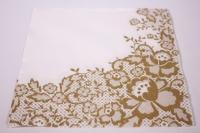 Салфетка декупажная 33*33 Свадебное золотое кружево SDL042509