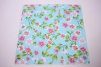 Салфетка декупажная 33*33 Тропические цветы голубой 007695