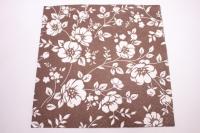 Салфетка декупажная 33*33 Украшение кусты(коричневый) TL677007