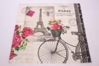 Салфетка декупажная 33*33 Велосипед Париж 1331546