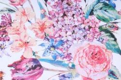 салфетка декупажная 33х33см  цветочный состав белый13311180