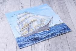 Салфетка декупажная 33х33см  Парусное судно  211407