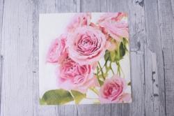 Салфетка декупажная 33х33см  Розовые розыSDL090400