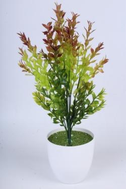 Самшит салатово-коричневый 40 см - Искусственное растение