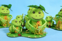 Семейка лягушек из 2х-4шт. 1096