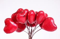 Сердца 3 см 144шт красные SM 8887