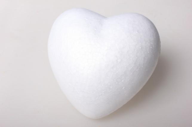 Сердце из пенопласта, объемное  d=14х13см