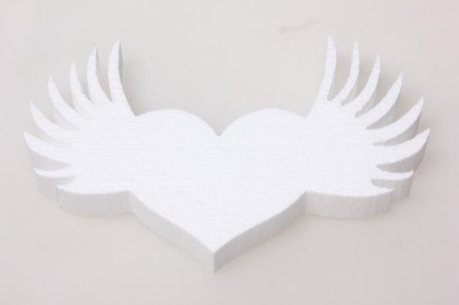 Сердце из пенопласта (вид 2) 20х8х2см (1шт в уп) 02-Се