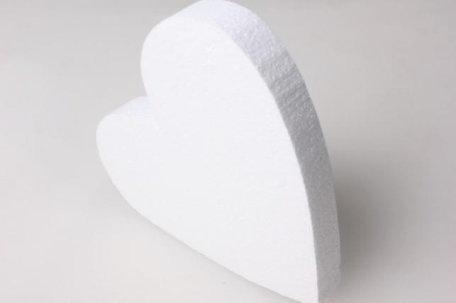 Сердце из пенопласта вид 5 14х14х2см (1шт в уп) 05-Се