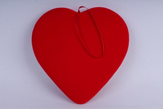Сердце подвеска Флок красное 32*35