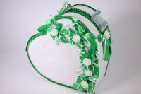 Сердце свадебное для денег - бело/зеленое (16) Карета свадебная для денег - белая (16) 33x12см h=29см