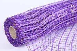 """сетка """"акцент с золотом"""" фиолетовый  53см*5,5м (моа-12)"""