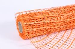 """сетка """"акцент с золотом"""" оранжевый  53см*5,5м (моа-08)"""