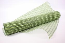 Сетка Акцент - Зеленый с салатовыми полосками (55х10ярд) - код ДУ-1
