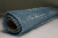 Сетка цветной металл 70смх10ярд Голубая