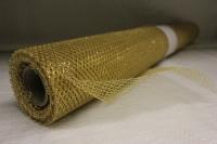Сетка цветной металл 70смх10ярд Золотая