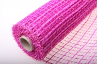 Сетка флористическая Акцент с золотом (54х10 ярд) - Розовый