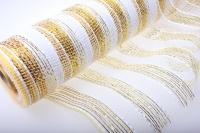 Сетка флористическая Золушка золото 11 полос (54х8 ярд) - Белый
