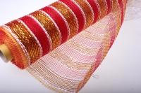 Сетка флористическая Золушка золото 11 полос (54х8 ярд) - Красный в ассортименте