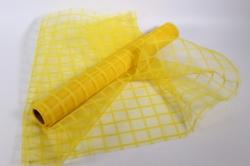 """Сетка """"Клетка тюль"""" Желтая 53см*6ярд"""