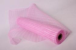 "Сетка  (М) ""Акцент"" светло розовый/белый (53см*6ярд) Р 800-57"