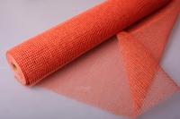 Сетка Рогожка натуральная Оранжевая (54см х 8ярд)