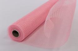"""Сетка """"Рогожка натуральная"""" Светло-розовая  (53 см x 5,5 м)  JNM-25"""