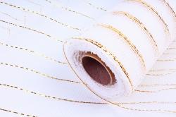 Сетка с золотой полосой белая 53*10 ярд