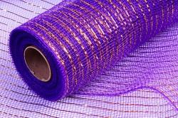 Сетка с золотой полосой фиолетовая 53*10 ярд