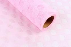 """Сетка """"Тюль Горох"""",50cmx5yds цв. нежно-розовый 4726 (Н)"""