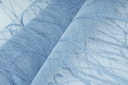 "Сетка-тюль ""Волна"", 50см*5ярд серо-голубой 1862 (Н)"