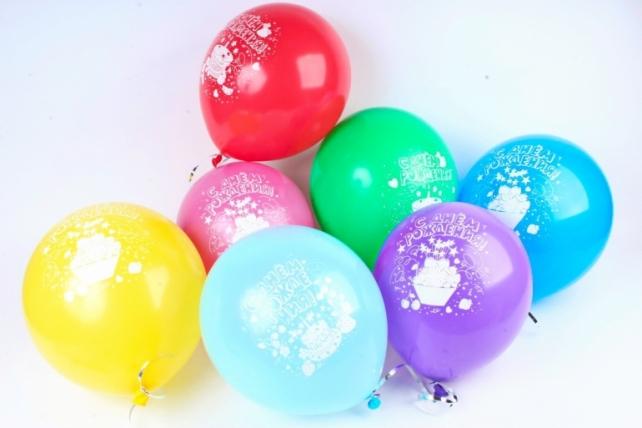 Шар (12''/30 см) С Днем Рождения! (торт), Ассорти, лайт, пастель, 2 ст, 50 шт.711261-50