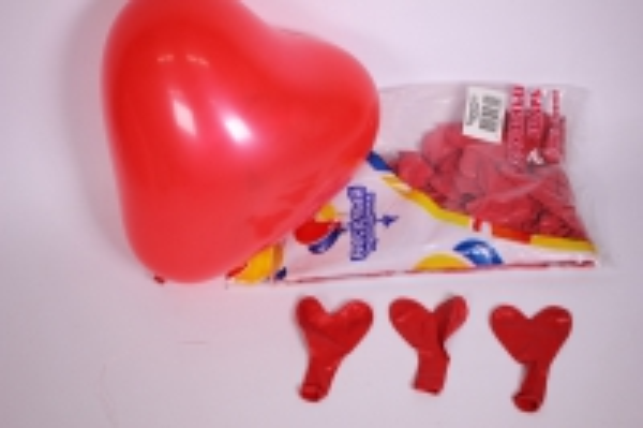 """Шар (10""""/25см) Сердце Красное, пастель, (100шт вуп)  610302"""