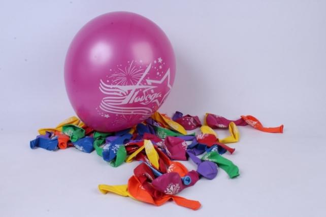 """шар (12""""/30см) день победы! ассорти, пастель, 2ст (50 шт в уп)  612560"""